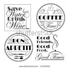 set designs quotes food beverages social stock vector 311162225