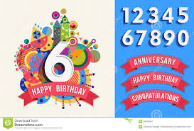 happy birthday greeting card number set template stock vector