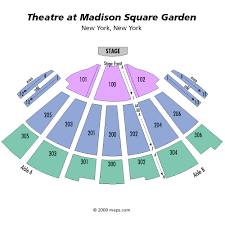 the theater at madison square garden detailed seating chart best