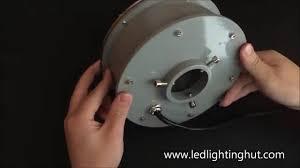 submersible led fountain lights ledlightinghut 12w submersible led fountain light ring youtube
