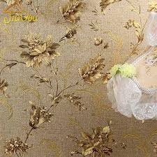 Popular Luxury Floral Wall Paper Modern Embossed Gold Wallpaper For Walls  #DN98