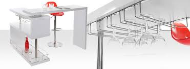 table haute avec tabouret pour cuisine table bar pour votre cuisine avec rangement miliboo
