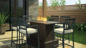 Patio Table With Firepit Bar Height Patio Table With Pit Patio Gas Pit Table