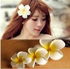 flower hair clip flower hair accessories for women bali frangipani wedding