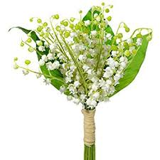 Lily Of The Valley Flower Lily Of The Valley 6 Plastic Artificial Flowers U0026 Foliage