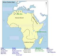 africa map deserts kingdoms of ancient west africa