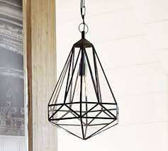 faceted indoor outdoor pendant pottery barn