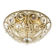 shop sequina 13 in w gold leaf ceiling flush mount at lowes com