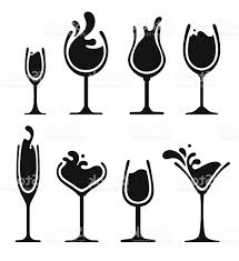 wine vector top wine glass silhouette vector cdr vector art library