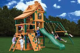 outdoor wooden playsets for children backyard landscape design
