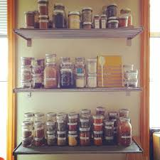 kitchen spice cabinet open spice wall shelves