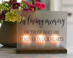 in loving memory items memorial candle etsy