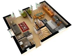 storey building d plans modern house 2 floor plan design 3d3d
