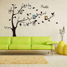 wall stickers for living room fionaandersenphotography com creative colorful photo frame tree wall stickers for home bedroom