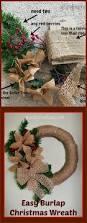 easy burlap christmas wreath grandparentsplus com