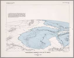 Gulf Of Mexico On Map by Physiographic Diagram Of The Gulf Of Mexico David Rumsey