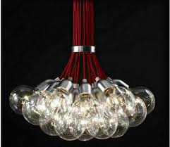 Diy Glass Bubble Chandelier Aliexpress Com Buy Free Ship Multi Head Of The Red Bubble