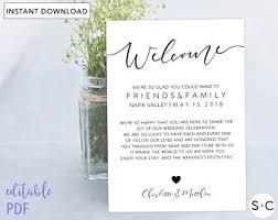 wedding welcome bags wedding welcome bag etsy