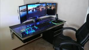 Computer Built Into Desk The Compudesk An Epic Custom Built All In One Desk