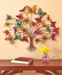 Metal Flower Wall Decor - butterfly tree wall art colorful metal wall decor butterfly