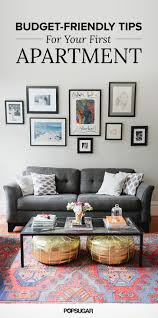 best 25 budget decorating ideas on pinterest cheap house decor living room with gray sofa gallery wall and gold poufs affordable decor