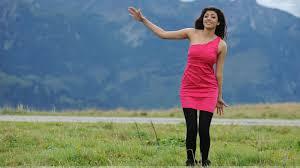 kajal aggarwal dancing in pink dress and black leggings wallpaper