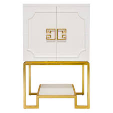 Lacquer Bar Cabinet Anna White Lacquered Bar Cabinet With Gold Leafed Base And White