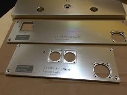 laser engraving laser cutz high end audio amplifier aluminum plate laser