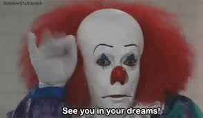 happy birthday creepy clown scary scary stephen king gif find on giphy
