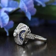 0 80 ct cw art deco engagement ring brilliant cut diamond