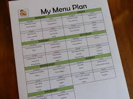 prepared lds family menu planning using a list of master menus
