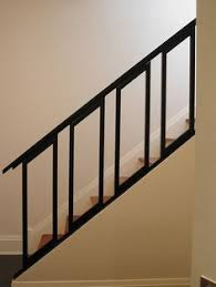 Indoor Handrails For Stairs Contemporary Love The Lines Of The Stair Railing With That Modern Pendant