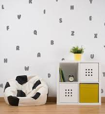 Wall Decal Letters For Nursery Wall Decal Gold Decal 2 Color