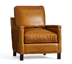 Antique Leather Armchairs For Sale Leather Occasional Chairs Pottery Barn