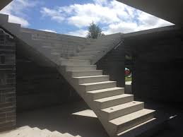 comfy concrete stairs design with concrete stairway plans and