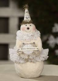 Myer White Christmas Decorations by Sigornee Reproduction Paper Mache Snowangel Designs By Heather
