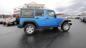 blue jeep wrangler unlimited 2016 jeep wrangler unlimited sport hydro blue pearlcoat