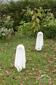 diy floating halloween ghosts for your yard