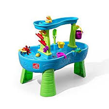 tall sand and water table amazon com step2 rain showers splash pond water table playset toys