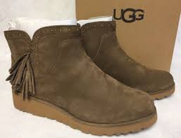 uggs womens boots on ebay ugg australia chestnut womens leather ankle boots