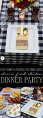 Summer Entertaining Recipes - fried chicken dinner party casual summer entertaining