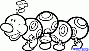 draw wiggler mario step step video game characters