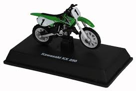 motocross toy bikes die cast green kawasaki kk 250 dirt bike 1 32 scale