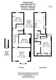 maisonette floor plan 3 bed maisonette for sale in pennard road shepherds bush london