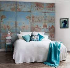 turquoise stone wallpaper bedroom design magnificent easy accent wall ideas painting