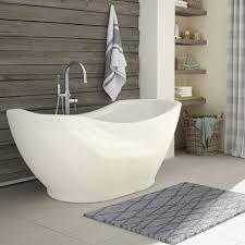 bath and shower salacia 67 inch acrylic oval freestanding bathtub
