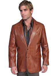 home jackets scully men s leather western blazer antique brown 501 189 jpg