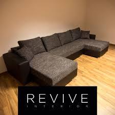 wohnlandschaft 300x300 sofa u form schwarz schlaf funktion struktur stoff wohnlandschaft