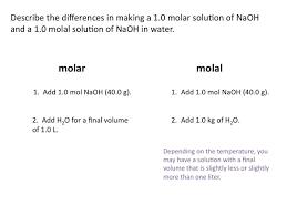 molality chemistry tutorial youtube