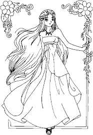 beautiful anime princess coloring pages sketch coloring